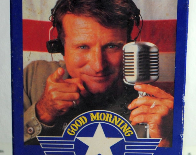 Good Morning Vietnam Vintage VHS Tape - 1987 - Robin Williams - VCR - Movie - Comedy - Adventure - Forest Whitaker - Disc Jockey - Doc