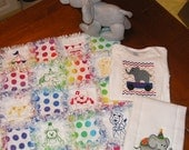 Circus Theme - Baby Security Rag Quilt