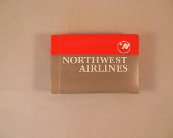 Northwest Airlines Deck of Playing Cards Vintage Airline Souvenir