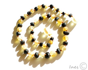 Raw Unpolished Baltic Amber Baby Teething Necklace