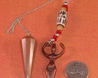 Dowsing Pendulum Jasper Goddess New Age Divination Magick Witchy Pagan Wicca OOAK 135953P