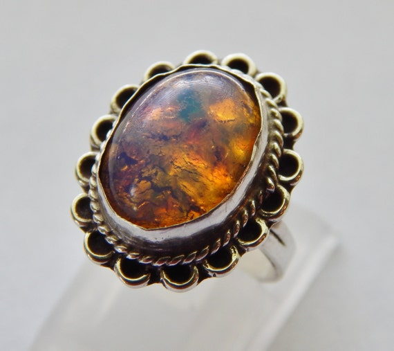 Sterling Jelly Opal Ring By Fatcatantique On Etsy