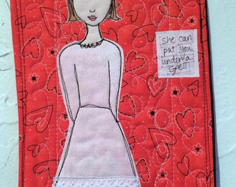Quilted Wall Art - She Can Put You Under a Spell