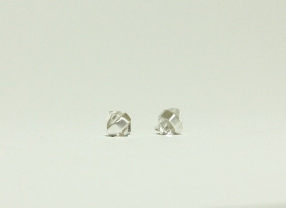 Herkimer Diamond Earrings, In Silver Small Studs
