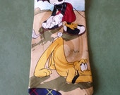 BKool Vintage Disney Mickey Mouse Golfing with Goofy, Multi-Colored on Navy, Silk Mens Ties, Excellent Cond.