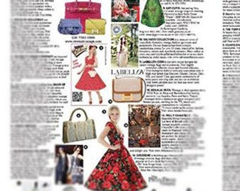 Seen in VOGUE MAG. Vintage Silk Flapper Style Dress. SM. // Peachy Pink. Tea Length.  Designer Paul & Joe. Art Deco, Slinky, Bias Cut.