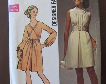 Designer Fashion Misses Dress Pattern Simplicity 8648