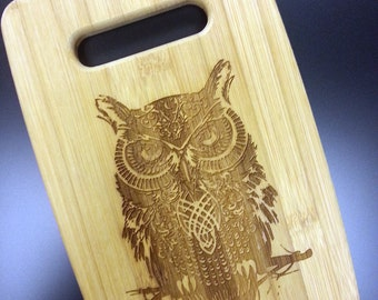 Owl Engraved Small Cutting Board