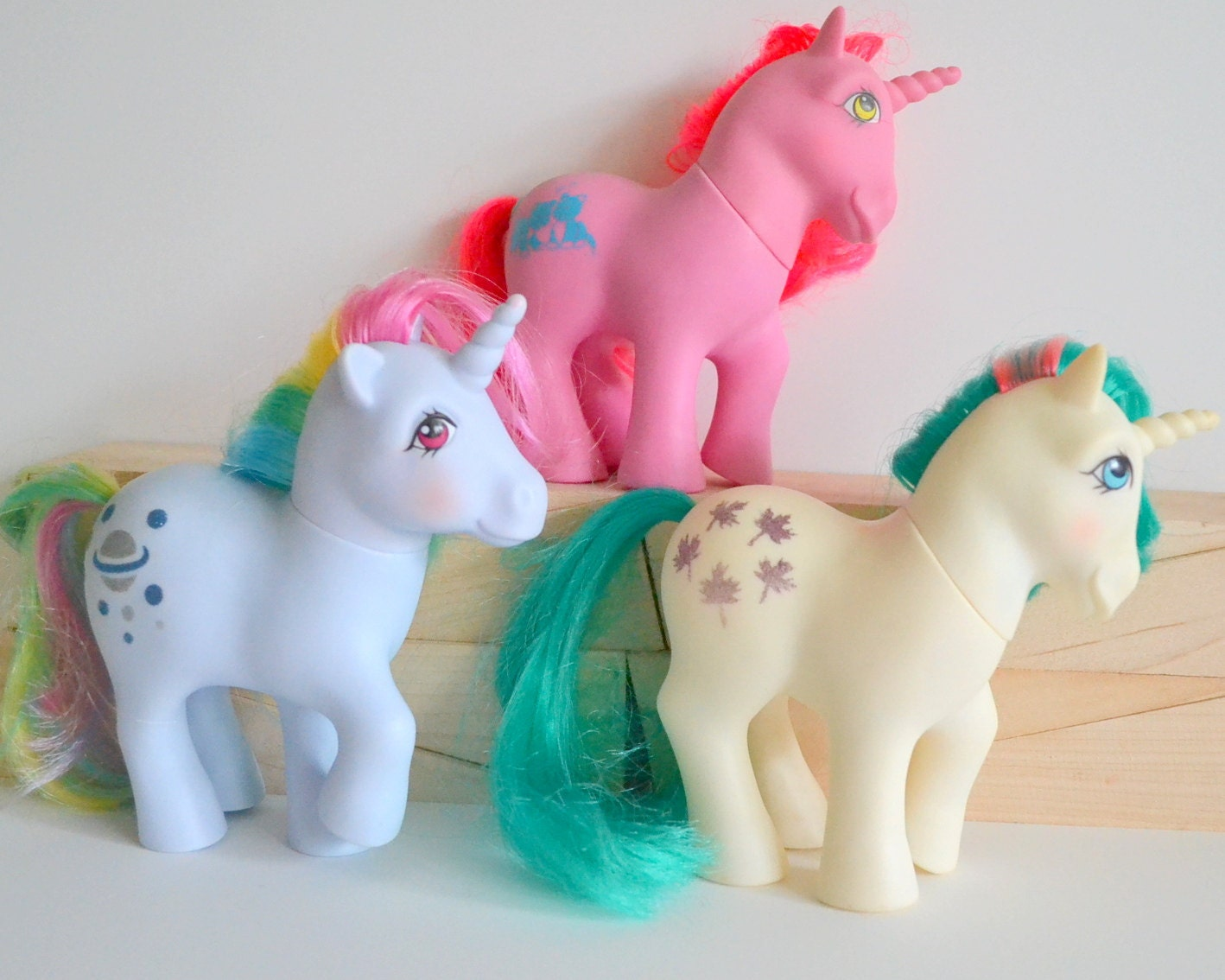 Ts Berry Furniture Vintage MLPs. My Little Pony Unicorn Happy Tails & Rainbow