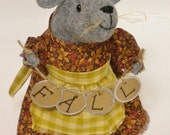 Fall Mouse, Primitive Mice, Autumn Harvest Mouse, Thanksgiving Mouse Decoration