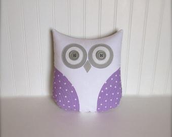 purple owl pillow, purple pillow, lavender pillow, owl, grey purple nursery decor, nursery pillow by whimsysweetwhimsy