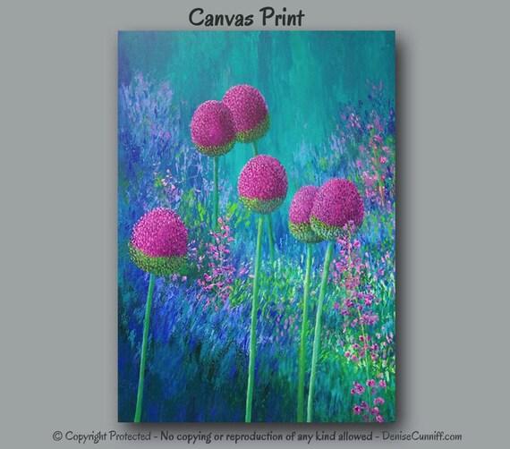 large wall art colorful abstract botanical floral artwork. Black Bedroom Furniture Sets. Home Design Ideas