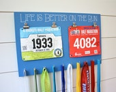 Bib and Medal Holder - Life is Better on the Run