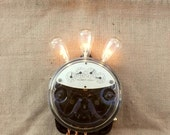 Power meter wall sconce hall lamp