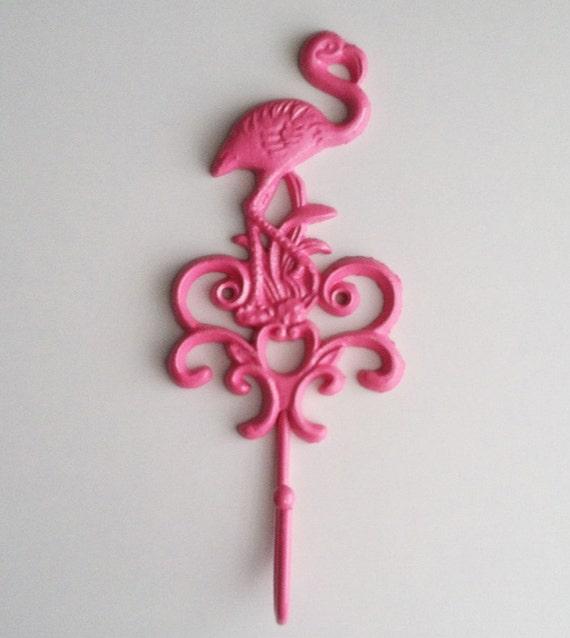 Crochet de flamant rose d cor de plage chaud rose - Decoration flamant rose ...