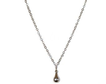 Necklace with Tiny Golden Drop Charm