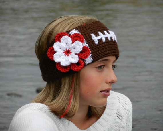 Free Crochet Football Rug Pattern : Tunisian Knit-Look Crochet Football Headband