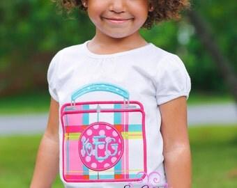 Back To School shirt, School Applique Shirt- Grade School embroidered shirt- Custom School shirt- Girl School Shirt- Monogram school shirt