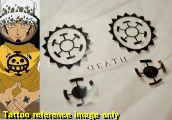 Items similar to one piece trafalgar law precut temporary for Trafalgar law tattoos