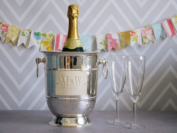 Personalized Wedding GiftStainless Steel Champagne Bucket wtih ...