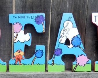 Dr. Seuss The Lorax/ Custom Nursery Letter