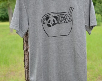 Panda in a Noodle Bowl T-Shirts