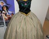 Anna Dress Cosplay Costume