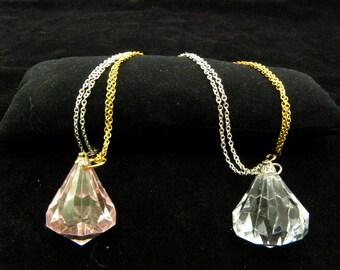 Sailor Moon Silver Crystal necklace -Ginzuishou or Pink Crystal