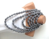 Bubble chain scarf necklace Infinity crochet  grey lariat scarf for spring