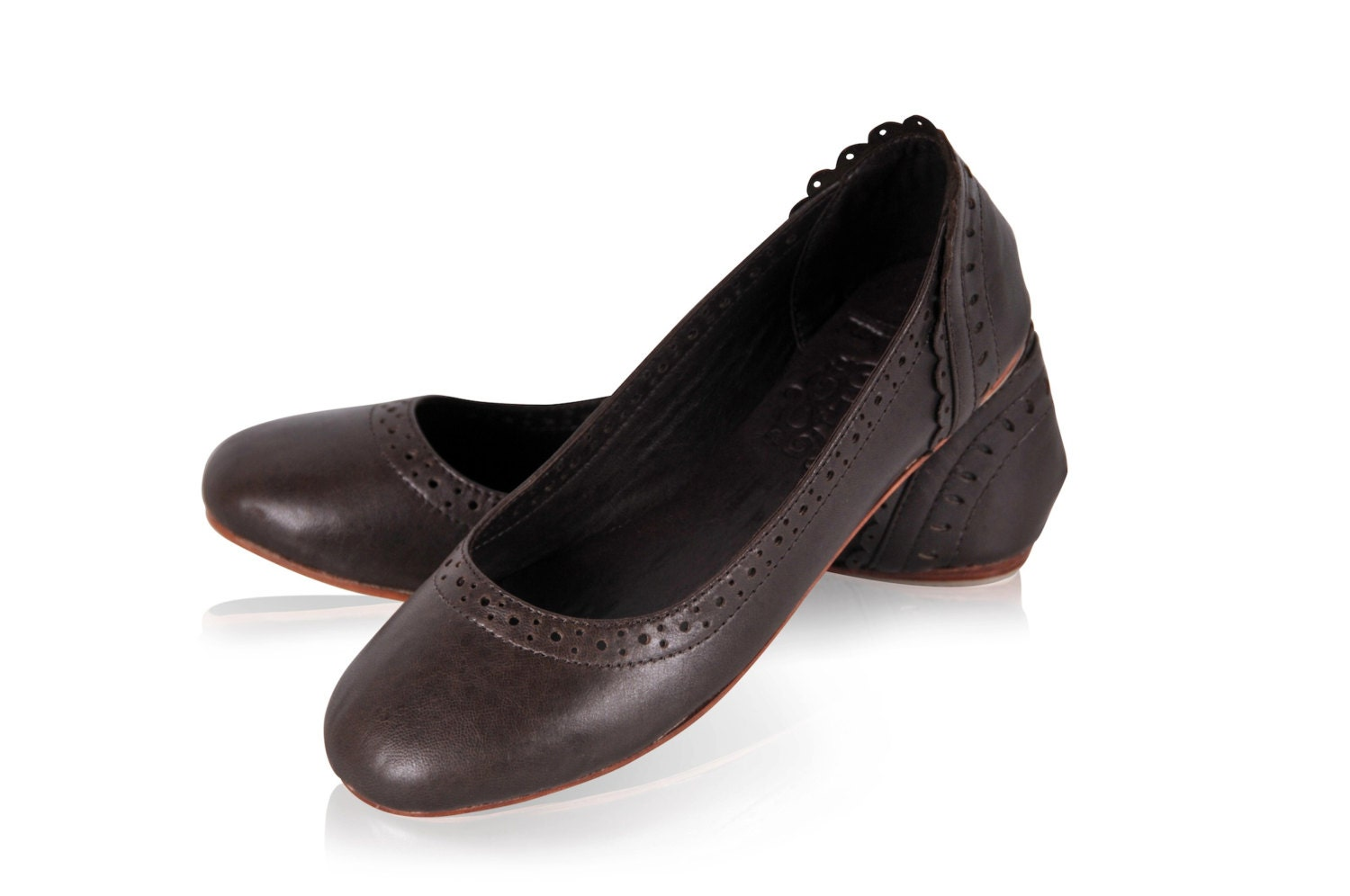 Dark Flats Shoes