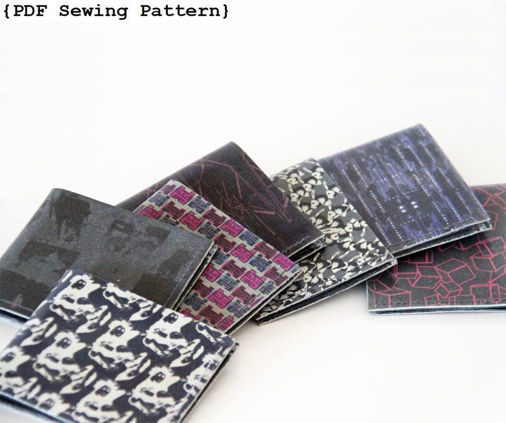 Men Wallet Sewing Pattern Leather Wallet Pattern DIY