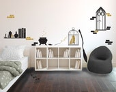 Harry Potter Inspired Wizard's Room Collection - Wall Decal Custom Vinyl Art Stickers