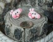 Peppa Pig inspired studs