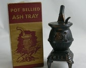 Ashtray - Pot Belly Stove - Boxed - Tobacciana -  MG-261