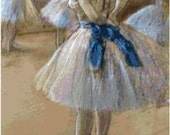 Edgar Degas Study of a Dancer Counted Cross Stitch Pattern Chart PDF Download by Stitching Addiction