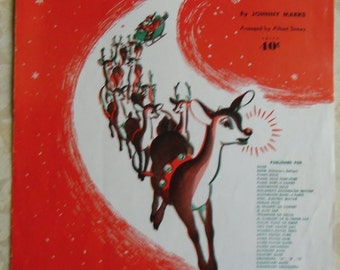 Vintage Music - Rudolph The Red Nosed Reindeer by Johnny Marks Children's Edition First Edition 1943