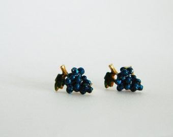 Vintage Grapes Stud Earrings - V0012a