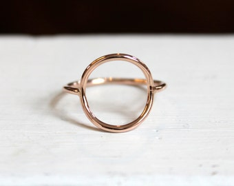 Full Circle Ring//14kt Rose Gold Filled//Handcrafted