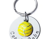 Custom, Hand Stamped, Water Polo Key Chain, Swim Key Chain,Coach Gift,Water Polo Charm, Swim Charm,Water Polo Gift,Team Mom, (Made to Order)