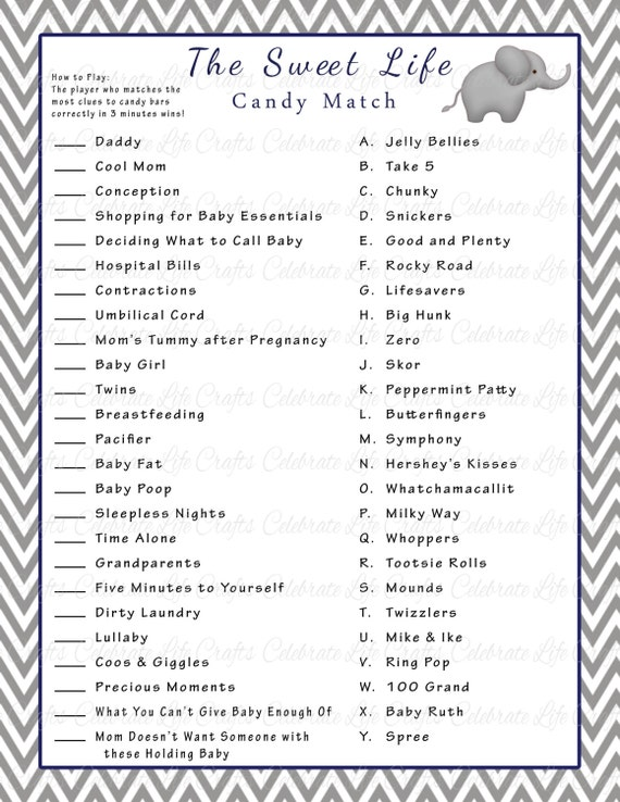 Free Printable Baby Shower Games For Boys Black And White