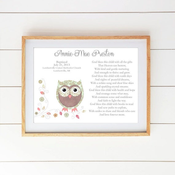 Baby girl baptism gift christening gifts for girl by snoodlebugs - Gifts for baby christening ideas ...