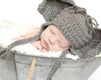 Elephant Hat - Baby Elephant Hat - Newborn Boy Hat