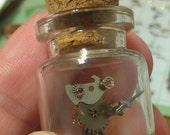 Steampunk Miniature Clockwork Robot in a Bottle - Shorty Desk Model Worry Bot Goblin