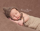 Newborn Ribbed Pixie Bonnet