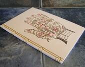Palmistry Notebook. Embroidered A5 Notebook. Zodiac Hand Journal. Magical Book. Fortune Teller Notebook. Hand Reading Art Book. Stitch Art