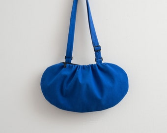Blue Ultramarine Bag Vegan Suede Bag Blue Faux Suede Bag Modern Bag Cross Body Bag Bright Blue Bag Purse Hipster Kawaii Bag Fall Accessories