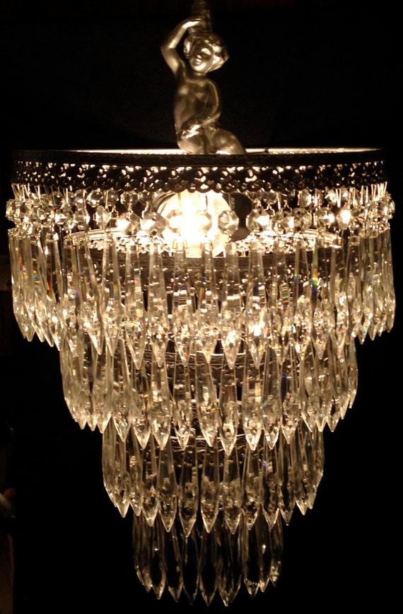 Wedding Cake Crystal Chandelier 4 Tiered Art Deco Chandelier