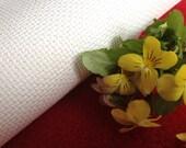 AIDA 18 Count Fabric. White Cross stitch fabric. Permin embroidery cotton. Made in Copenhagen.