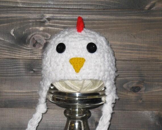 Newborn Crochet Chicken Hat Pattern : NEWBORN Chicken Rooster Hat eastercrochet photo prop by ...