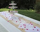 Handmade Vintage Handkerchief Hankie Table Runner--Weddings or Home Decor